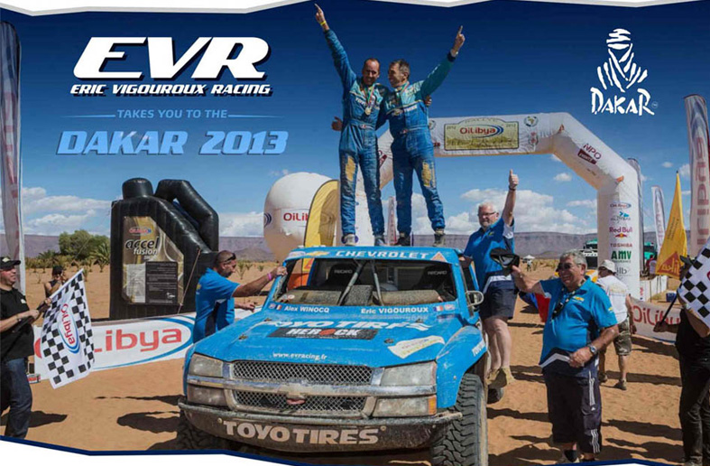 Paris Dakar 2013 EVR powered by Luxfer