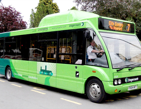 Diesel and biomethane dual fuel buses